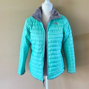 The North Face XL 18 green gray reversible coat